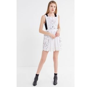 NWT Urban Outfitters embroidered apron dress